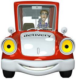 3d businessman courier driving