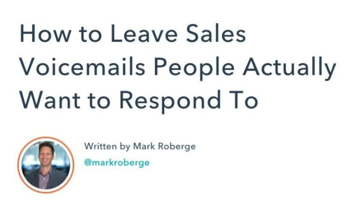 How to Leave Sales Voicemails People Actually Want to Respond To