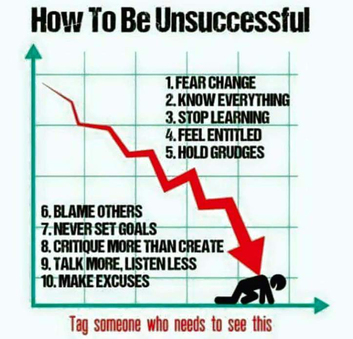 How To Be Unsuccessful