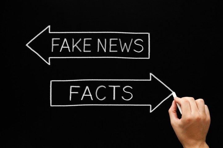 Fake News Or Facts Arrows Concept