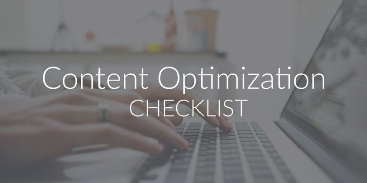 Web Content Optimization Checklist
