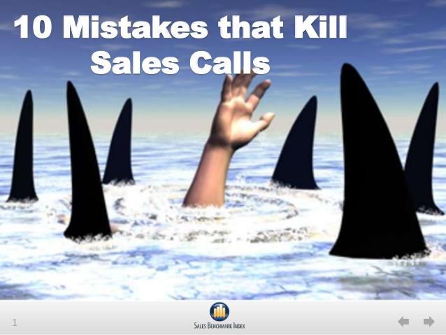 10 Mistakes that Kill Sales Calls