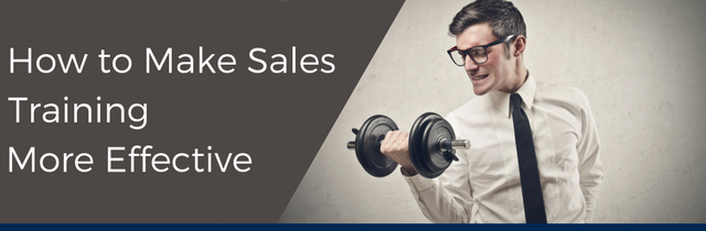 How to Make Sales Training More Effective