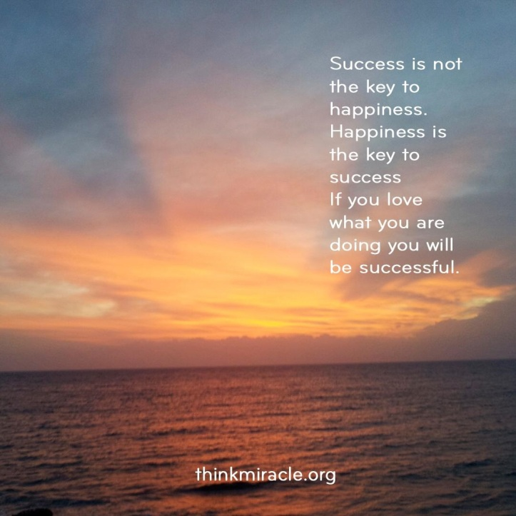 success is not the key